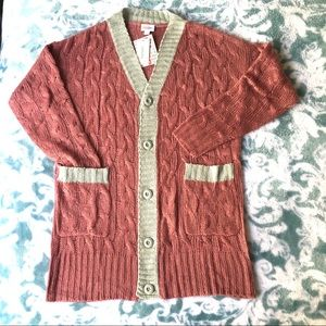 LuLaRoe Cardigan Lucille dusty rose Small NWT